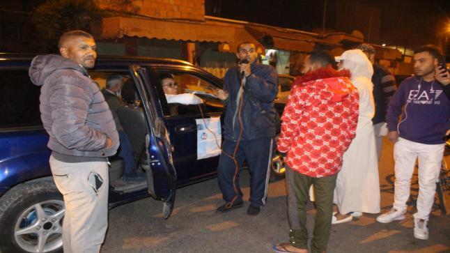 حملة توعوية لفعاليات المجتمع المدني بازيكي و بتنسيق مع السلطات المحلية بمراكش حول وباء كورونا