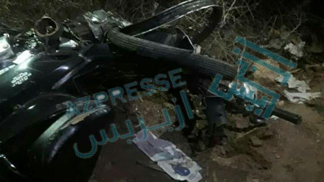 مصرع سائق دراجة نارية في حادثة سير بالقرب من مقر جماعة سيدي علي بن حمدوش